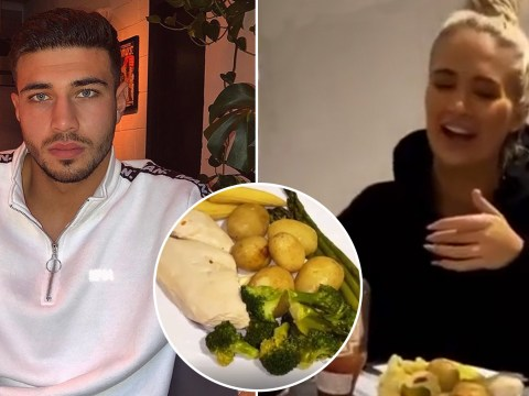Tommy Fury defends 'wifey' Molly-Mae Hague after fans mock 'bland' chicken dinner she cooked him