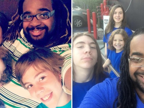 Single dad adopts three boys after growing up in foster care