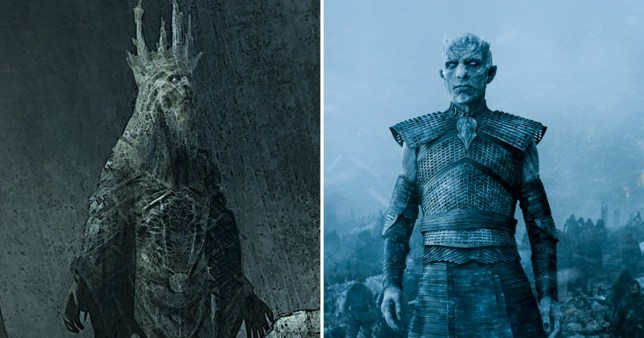 The Night King - concept vs character on Game of Thrones
