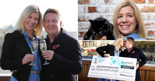 Lottery winners £10k per month for the next 30 years