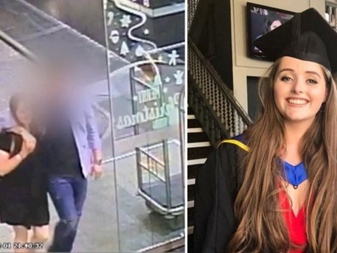 Grace Millane laughs in CCTV with Tinder date just hours before 'he strangled her to death'