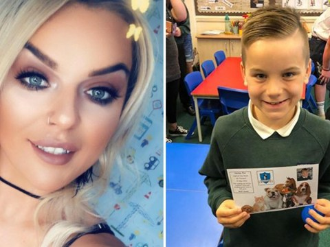 Mum heaps praise on son, 8, after he saved her life when she collapsed