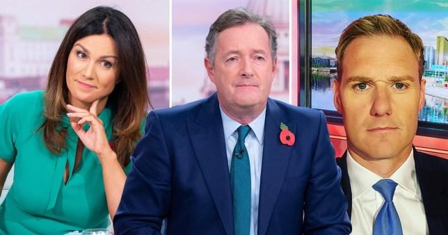 Piers Morgan, Dan Walker and Susanna Reid
