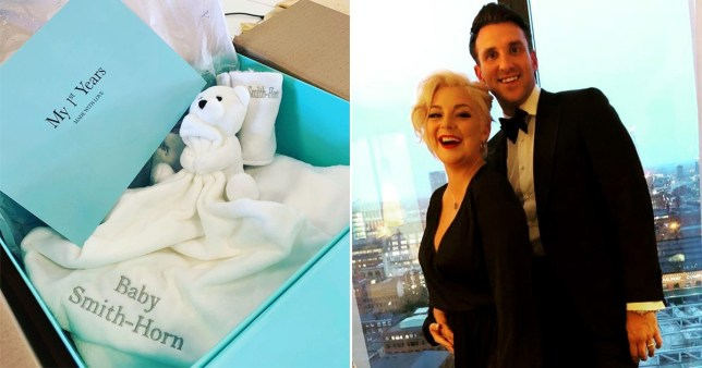 Sheridan Smith confirms she is pregnant with first child as she shares baby blanket picture
