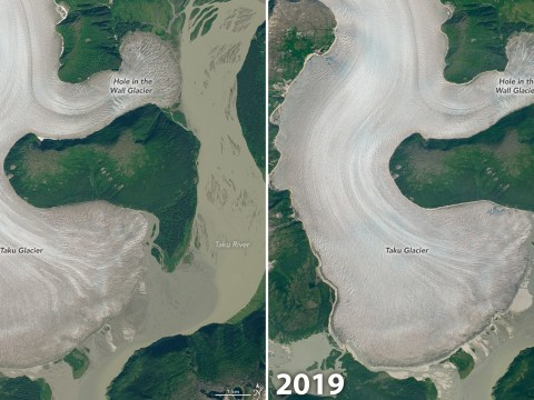Nasa pictures show the world's thickest mountain glacier is melting