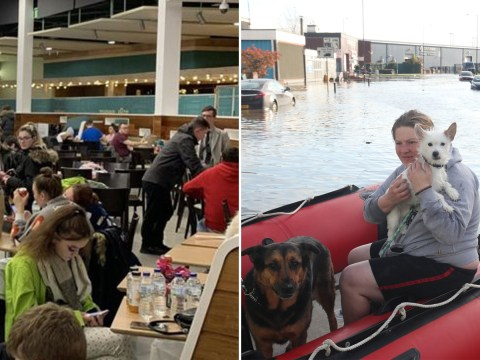 Residents evacuated and people forced to spend night in shopping centre after floods