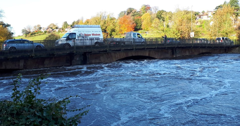 Body pulled from flood water near banks of the River Derwent in Derbyshire