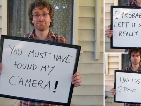Let us all try this man's genius trick to ensure our lost cameras are returned