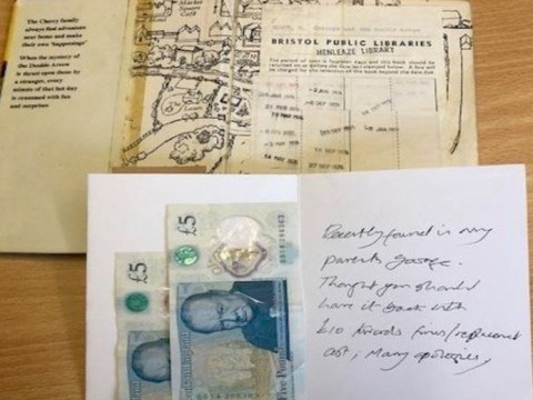 Library book returned 42 years overdue with £10 and apology note