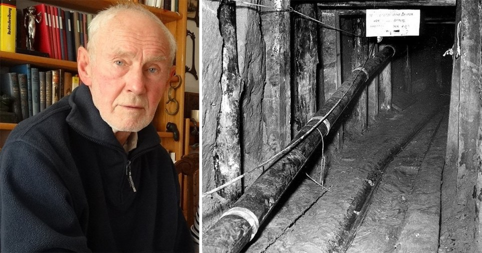 Joachim Rudolph escaped to West Berlin - but tunnelled back under the Berlin to save 29 others (Picture: BBC)