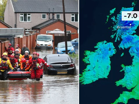 Temperatures plunge to -7C as clean-up continues after 'biblical floods'
