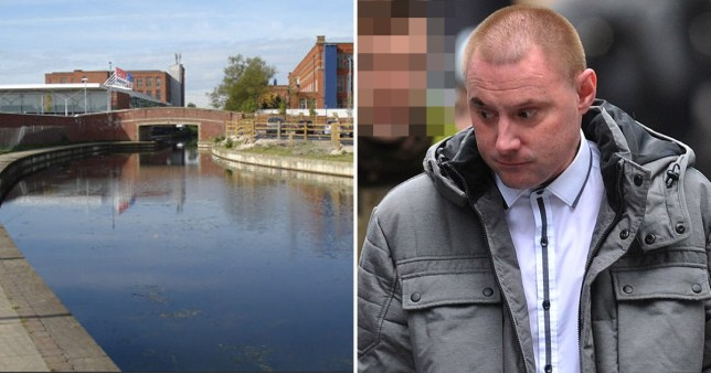 Picture of canal in Failsworth, Manchester and convicted sex offender Ashley Donaghy