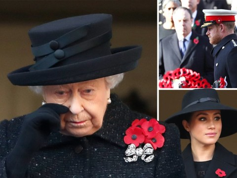 Royals lead emotional Remembrance Sunday tributes at Cenotaph