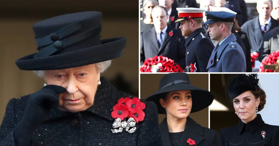 Royals attend the Remembrance Sunday memorial at The Cenotaph (Picture: Splash; Getty; Max Mumby)