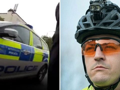 Cyclist films police car nearly hit him after not giving way