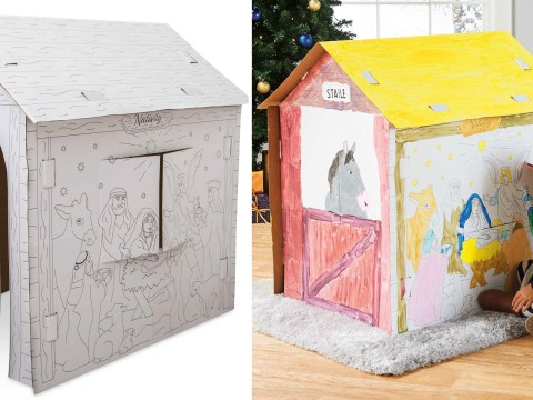 Parents love this £6.99 Aldi playhouse that kids can colour in themselves