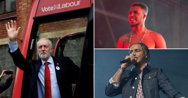 Compilation of Jeremy Corbyn, Novelist and AJ Tracey