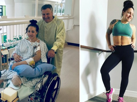 Mum has leg ripped off by truck – but says it's helped her see the positives in life