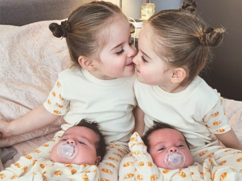 Woman has two sets of twins three years apart defying 700,000 to one odds