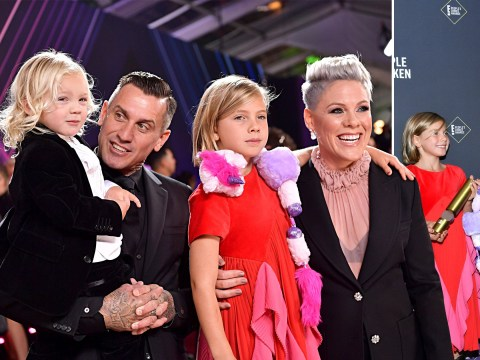 Pink's children steal the show at the People's Choice Awards as she accepts philanthropy award