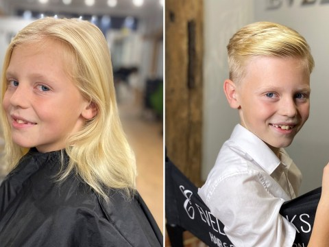 Boy, 9, teased for 'looking like a girl' as he grew hair for cancer patients