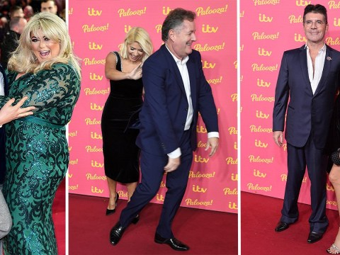 Holly Willoughby isn't letting Piers Morgan steal her moment as Gemma Collins and Alan Carr get cosy alongside Simon Cowell at ITV Palooza