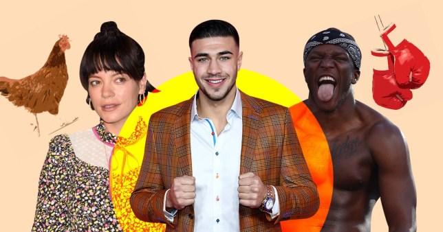 Tommy Fury with Lily Allen and KSI