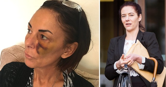 Samantha Southall, 31, (right) punched Samantha White, 53, after a day drinking at the pub