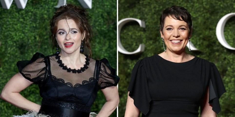 Helena Bonham Carter and Olivia Colamn at The Crown series 3 premiere
