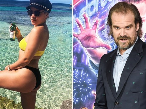 Stranger Things' David Harbour muses over Lily Allen's 'stunningly beautiful butt' as these two get frisky