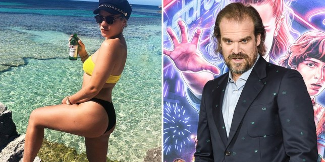 David Harbour muses over Lily Allen's 'stunningly beautiful butt' as these two get frisky