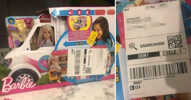 Amazon delivered Barbie Ambulance Christmas present without packaging