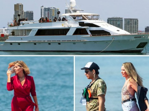 I'm A Celebrity's Nadine Coyle and Kate Garraway get last taste of glamour on yacht as filming begins