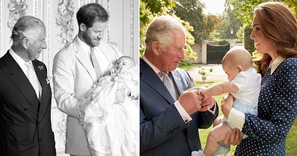 Prince Charles, Prince Harry, Archie, Prince Louis and Kate Middleton