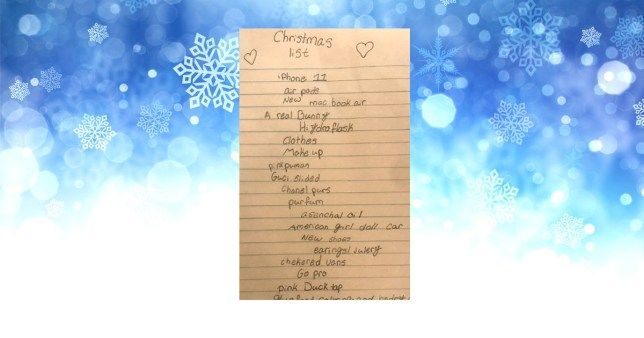 Christmas Wish List 2020.10 Year Old S Hilarious Christmas Wish List Has People