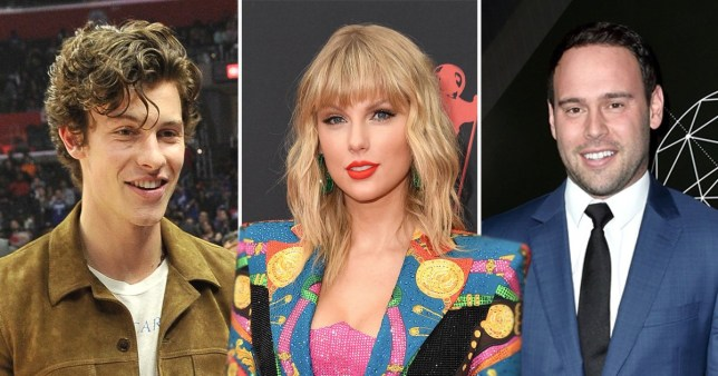 Shawn Mendes, Taylor Swift, Scooter Braun