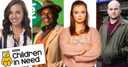 EastEnders stars Louisa Lytton, Rudolph Walker, Maisie Smith and Ricky Champ