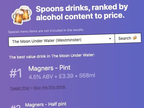 Helpful website tells you the most efficient way to drink in Wetherspoon's