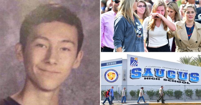 Images of California High School shooter Nathaniel Tennosuke Berhow and people grieving outside Saugus High School, Santa Clarita, Los Angeles