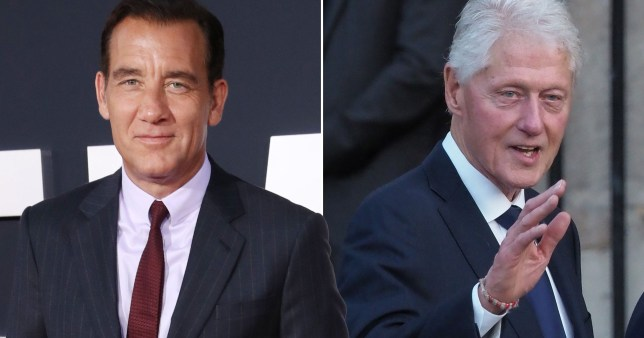 Clive Owen and President Bill Clinton