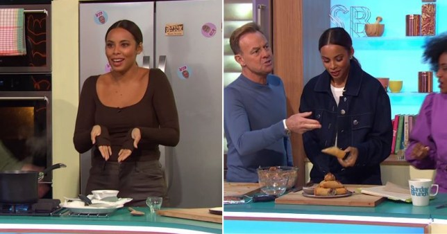 Rochelle Humes forced to change outfit partway through Sunday Brunch after bursting out of her trousers