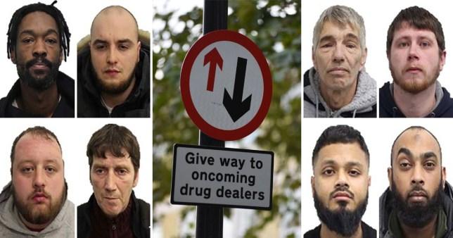 drug gangs road signs