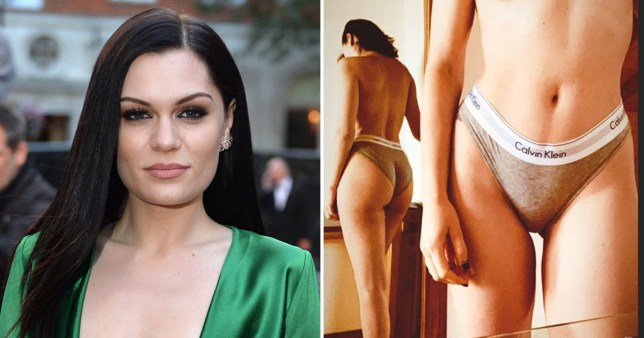 Jessie J strips down to her Calvins for topless shoot as she worries about her anxiety
