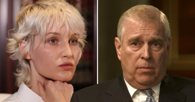 A new Jeffrey Epstein accuser has called on Prince Andrew to 'come forward' and speak with police (Picture: AFP/BBC)