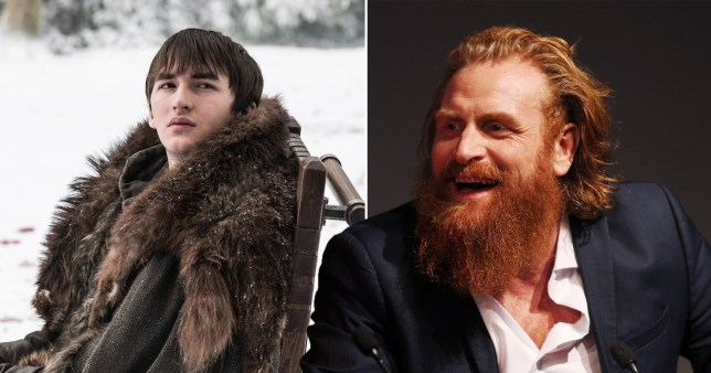 Kirstopher Hivju and Bran Stark in Game of Thrones