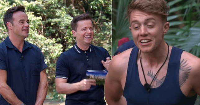 Ant and Dec with Roman Kemp on I'm A Celeb