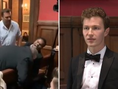 Oxford Union president quits after bid to oust him over treatment of blind student