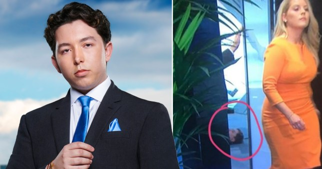 Ryan-Mark Parsons and mystery man on The Apprentice floor