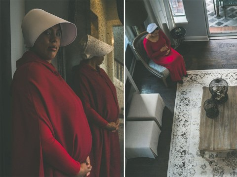 Couple criticised for announcing pregnancy with Handmaid's Tale themed photoshoot