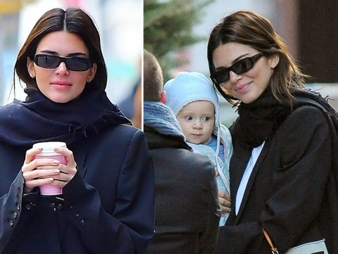 Kendall Jenner cuddles fan's baby for impromptu photoshoot after shooting down pregnancy questions